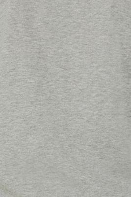 Cotton blend sweatshirt cardigan, MEDIUM GREY 5, detail