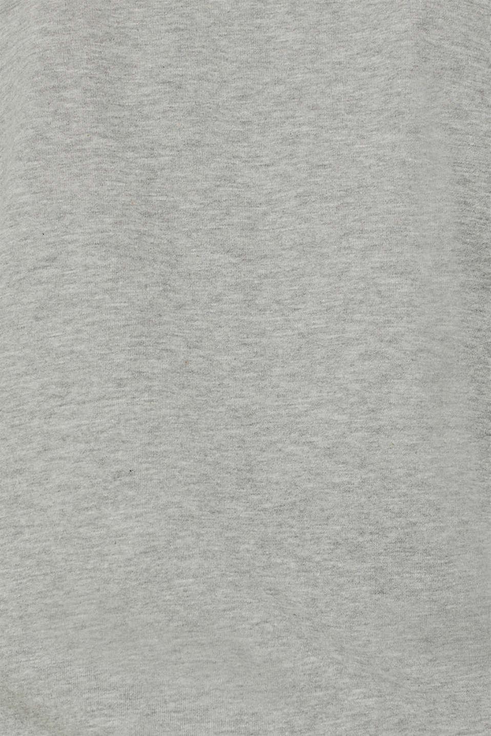 Cotton blend sweatshirt cardigan, MEDIUM GREY 5, detail image number 4
