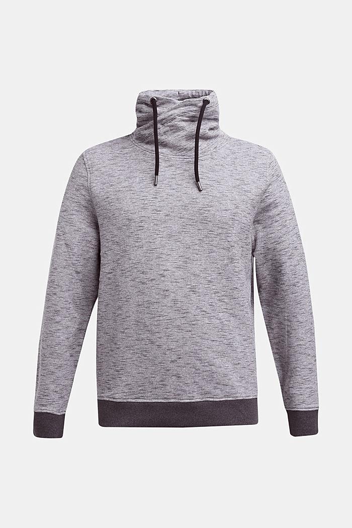 Sweatshirt with drawstring collar, BLACK 5, detail image number 0