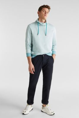 Textured jumper with a drawstring collar, TEAL BLUE 5, detail