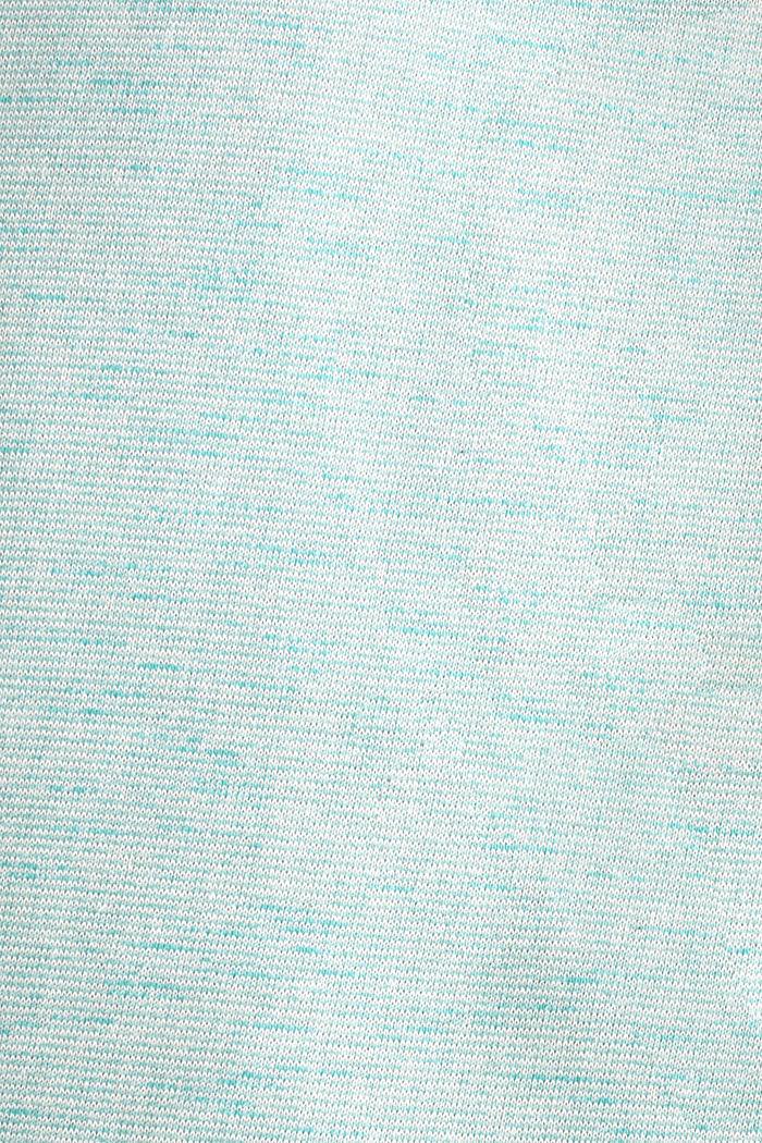 Gestructureerde trui met col, TEAL BLUE 5, detail image number 2