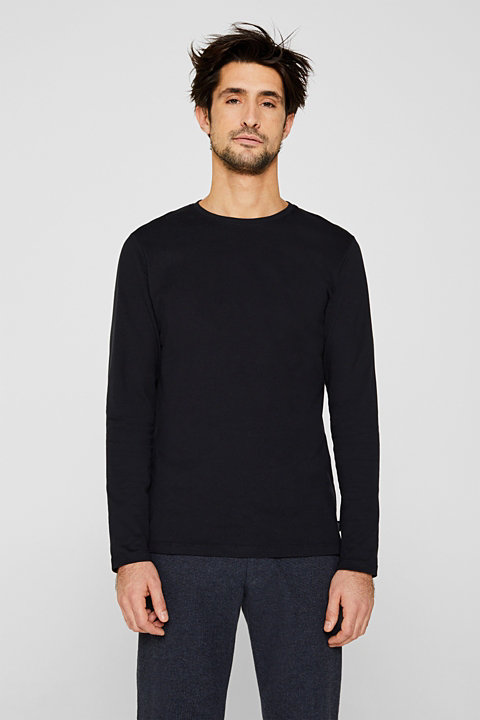 Long sleeve jersey top in 100% cotton