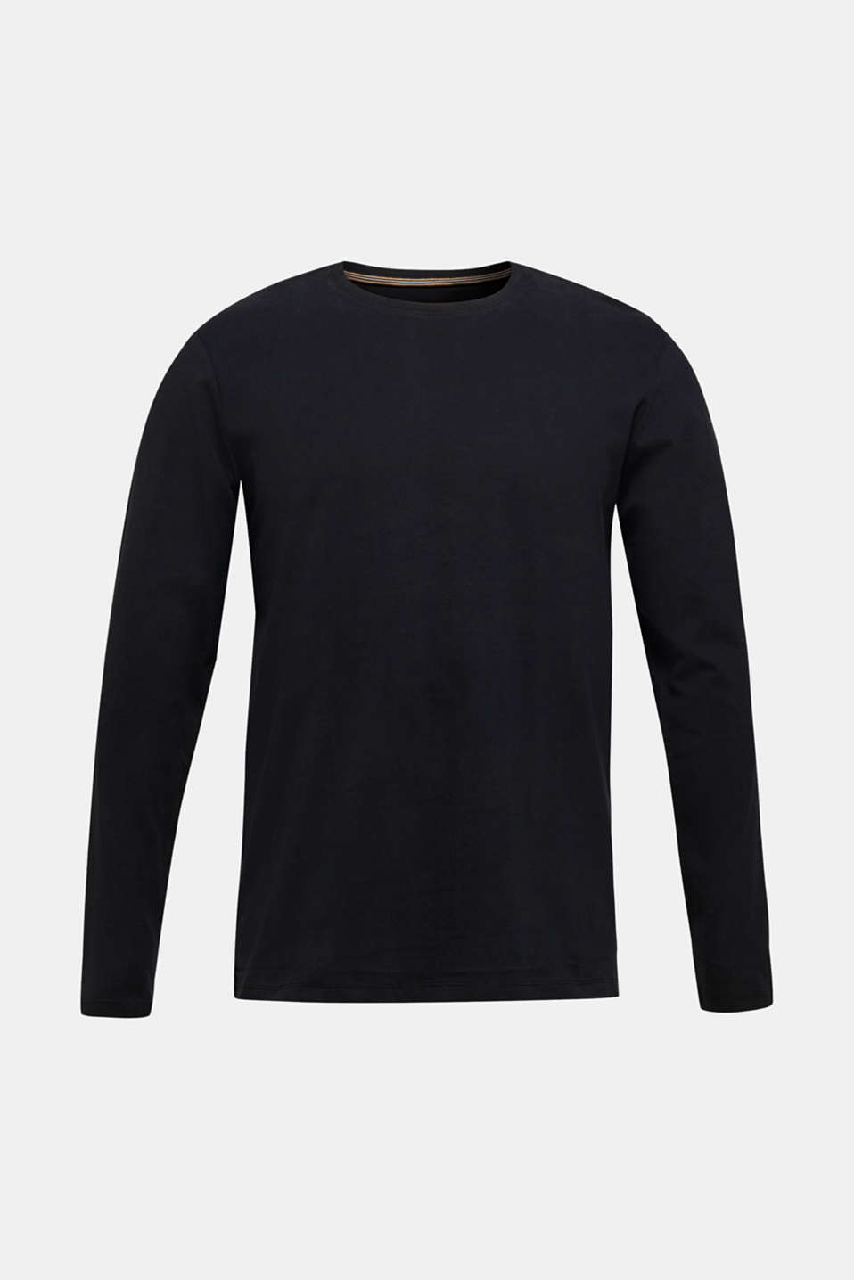 Long sleeve jersey top in 100% cotton, BLACK, detail image number 6