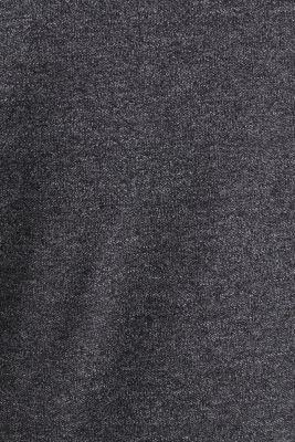 Long sleeve polo shirt in melange piqué, BLACK 5, detail