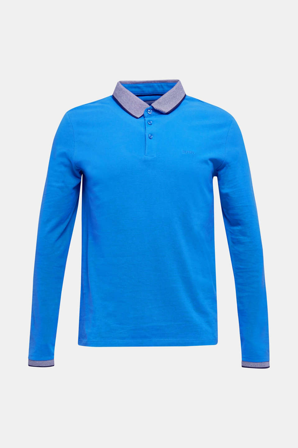 Polo shirts, BRIGHT BLUE, detail image number 6