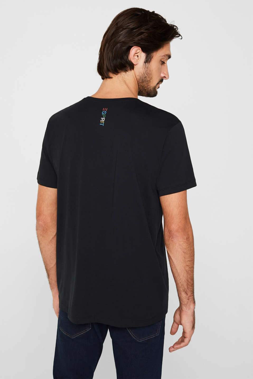 Jersey T-shirt in 100% cotton, BLACK 2, detail image number 3