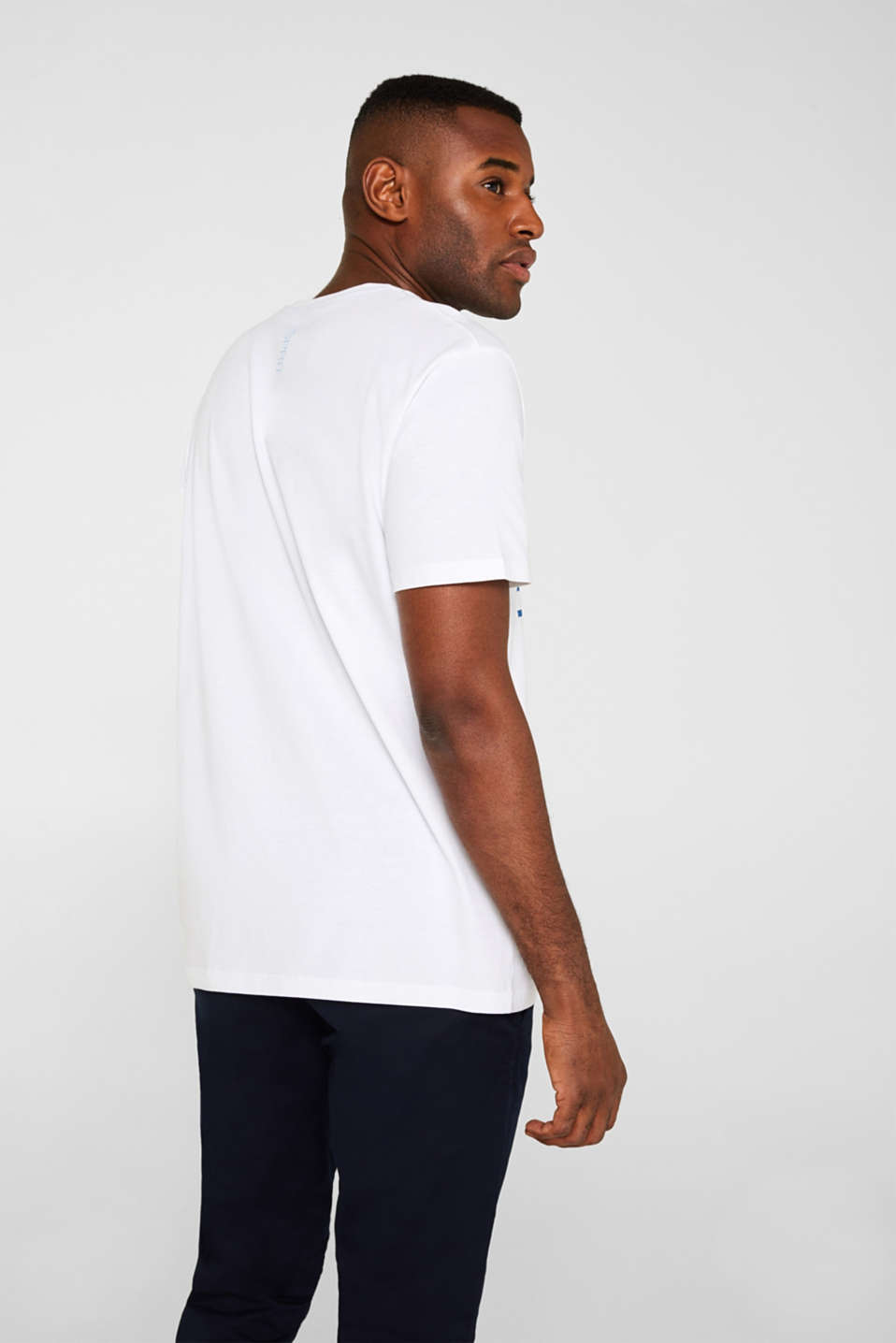 Jersey T-shirt in 100% cotton, WHITE, detail image number 3
