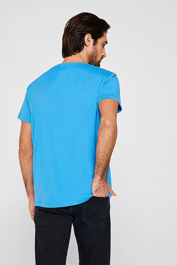 Jersey T-shirt in 100% cotton, BRIGHT BLUE, detail image number 3