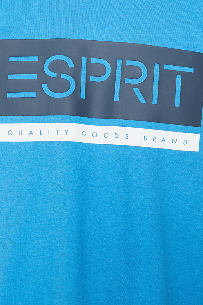 Jersey T-shirt in 100% cotton, BRIGHT BLUE, detail image number 4