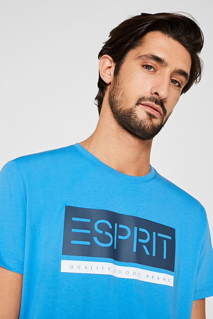 Jersey T-shirt in 100% cotton, BRIGHT BLUE, detail image number 5
