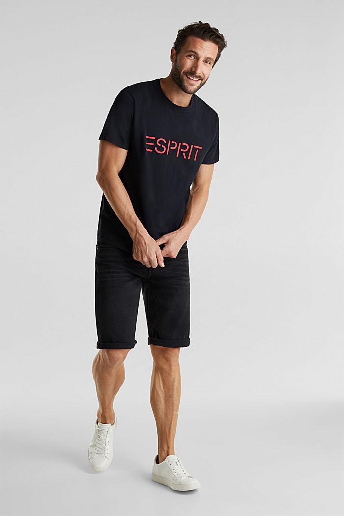 Jersey logo T-shirt, 100% cotton, BLACK, detail image number 2