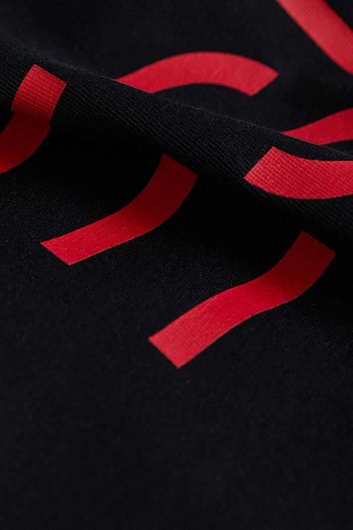 Jersey logo T-shirt, 100% cotton, BLACK, detail image number 4