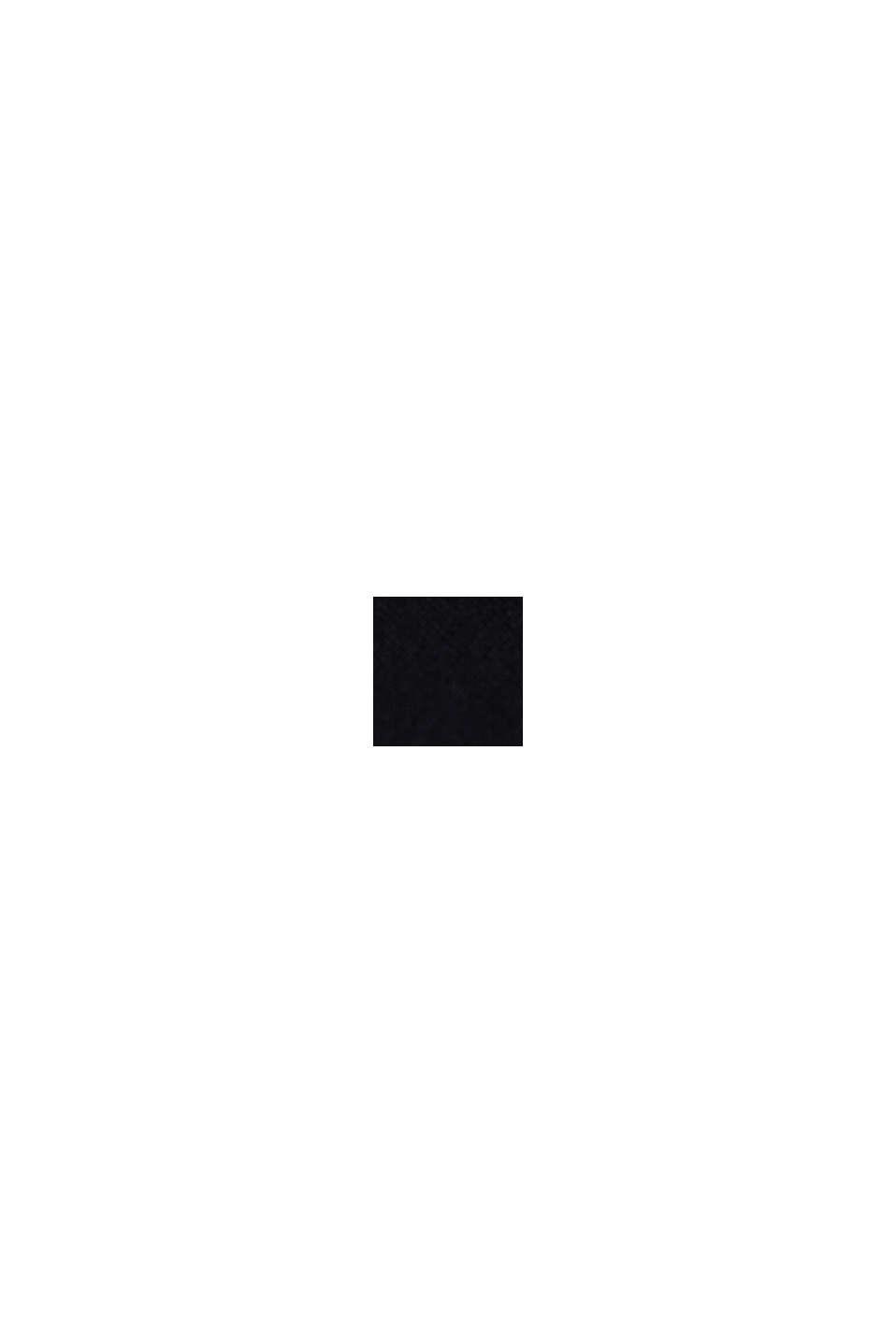 Jersey-T-Shirt mit Logo, 100% Baumwolle, BLACK, swatch