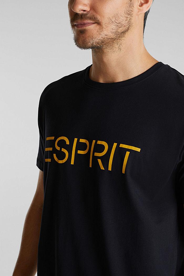 Jersey logo T-shirt, 100% cotton, BLACK, detail image number 1