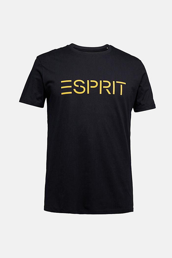 Jersey logo T-shirt, 100% cotton, BLACK, detail image number 6