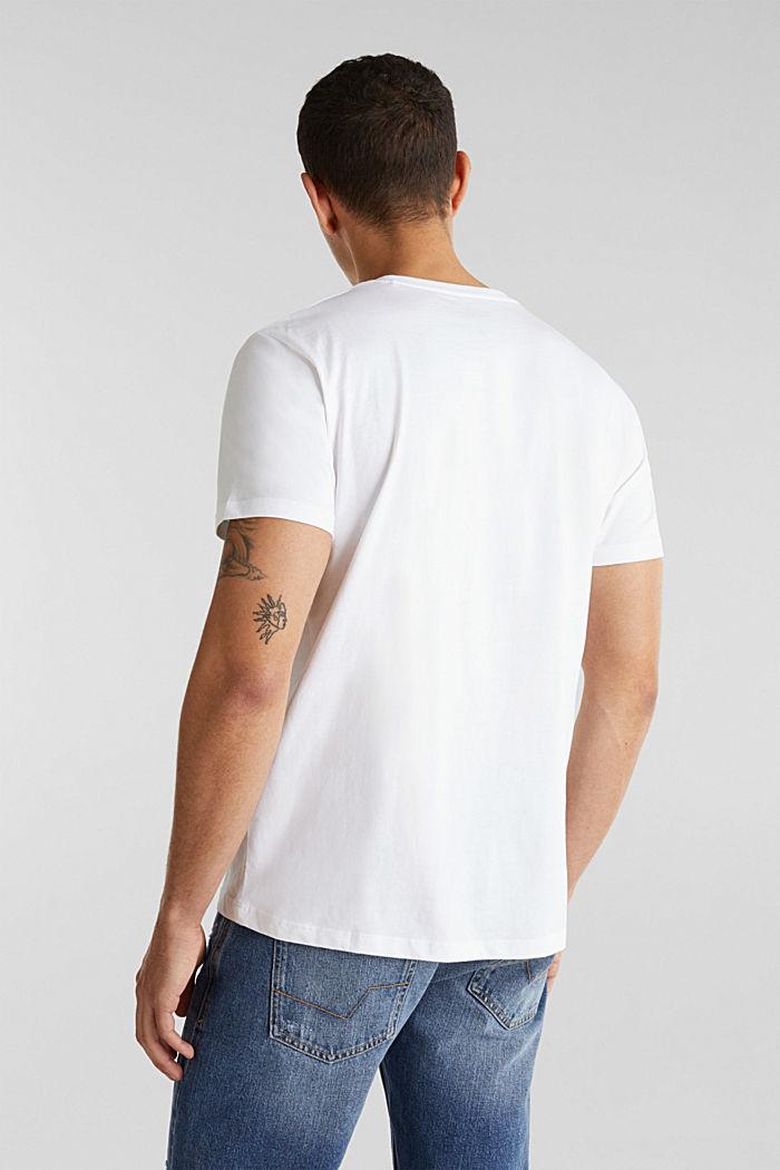 Jersey logo T-shirt, 100% cotton, WHITE, detail image number 3