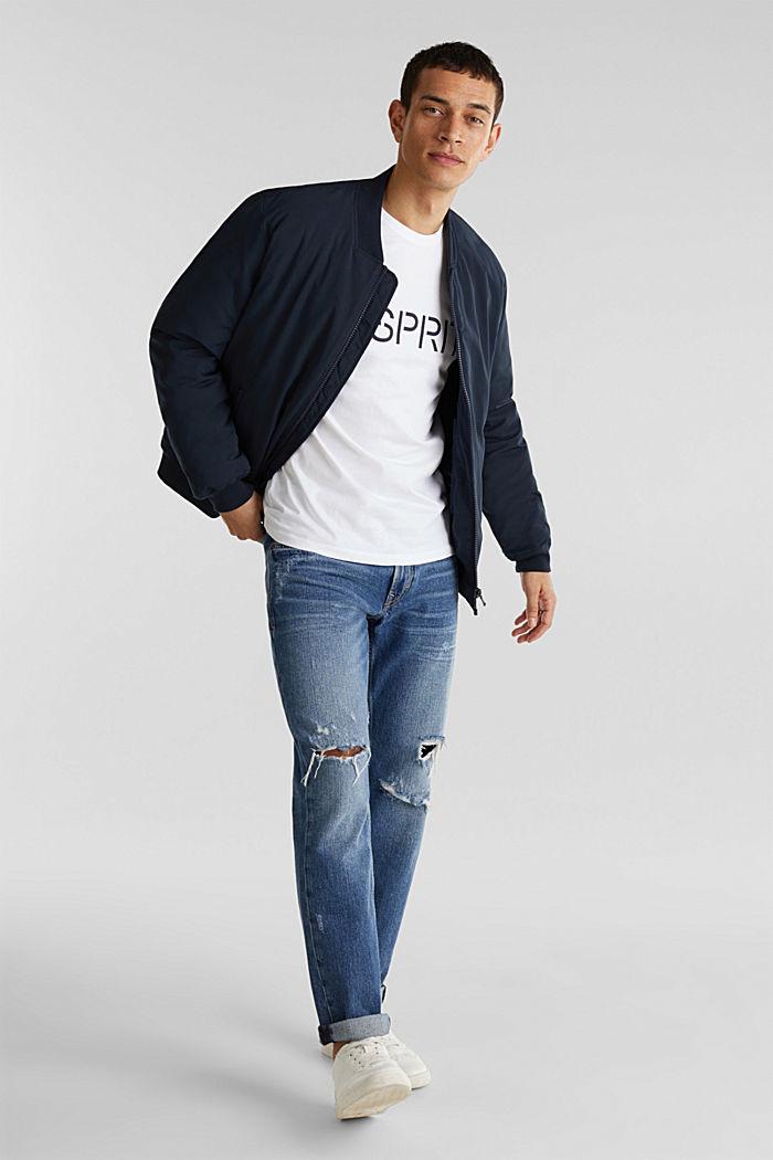 Jersey-T-Shirt mit Logo, 100% Baumwolle, WHITE, detail image number 2