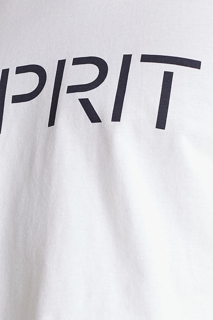 Jersey-T-Shirt mit Logo, 100% Baumwolle, WHITE, detail image number 4