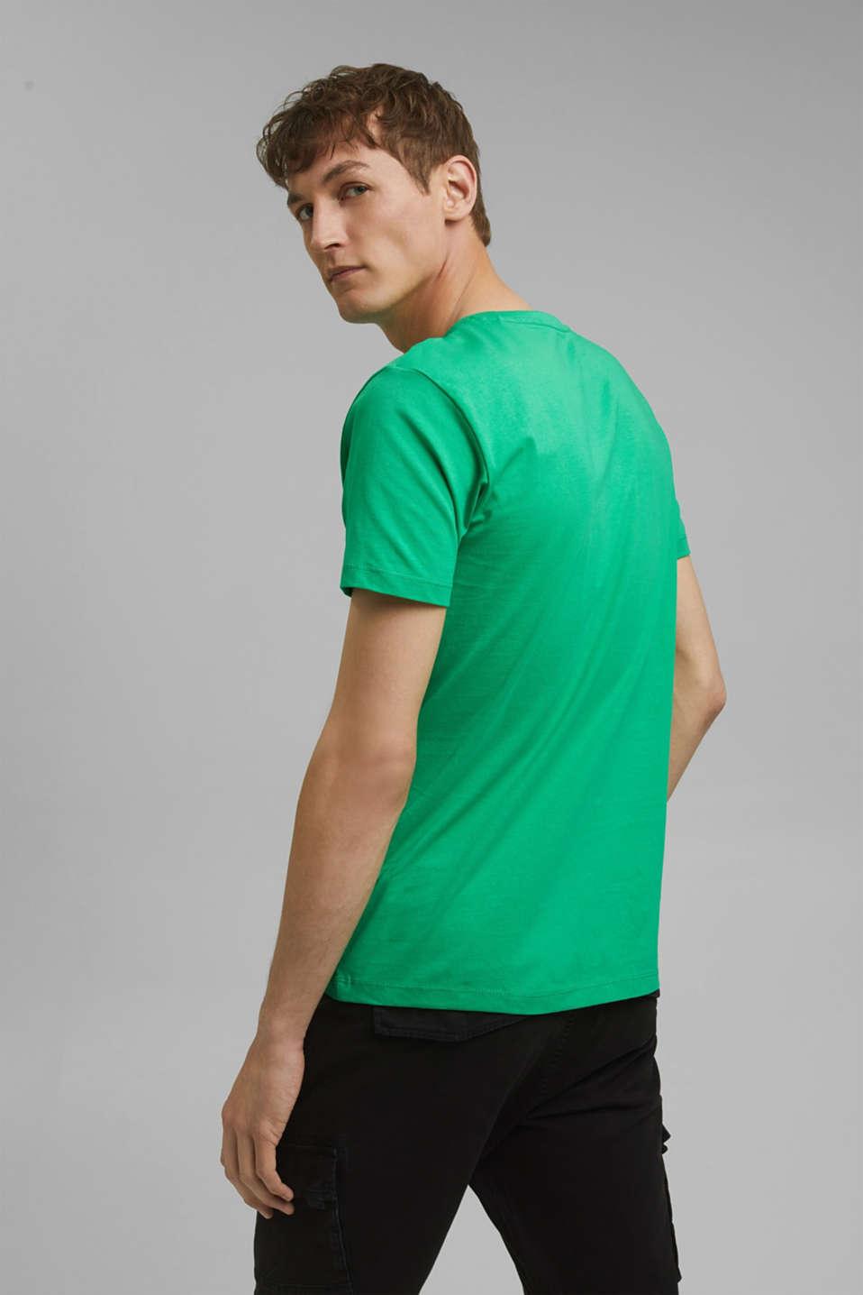 Jersey logo T-shirt, 100% cotton, GREEN, detail image number 3