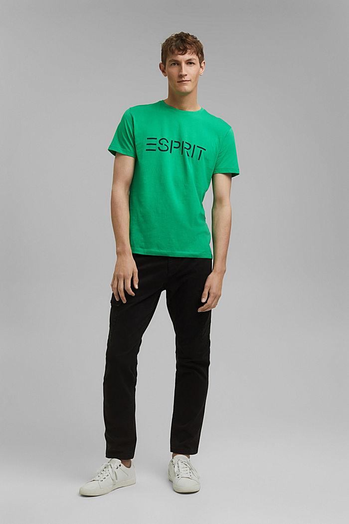 Jersey logo T-shirt, 100% cotton, GREEN, detail image number 2