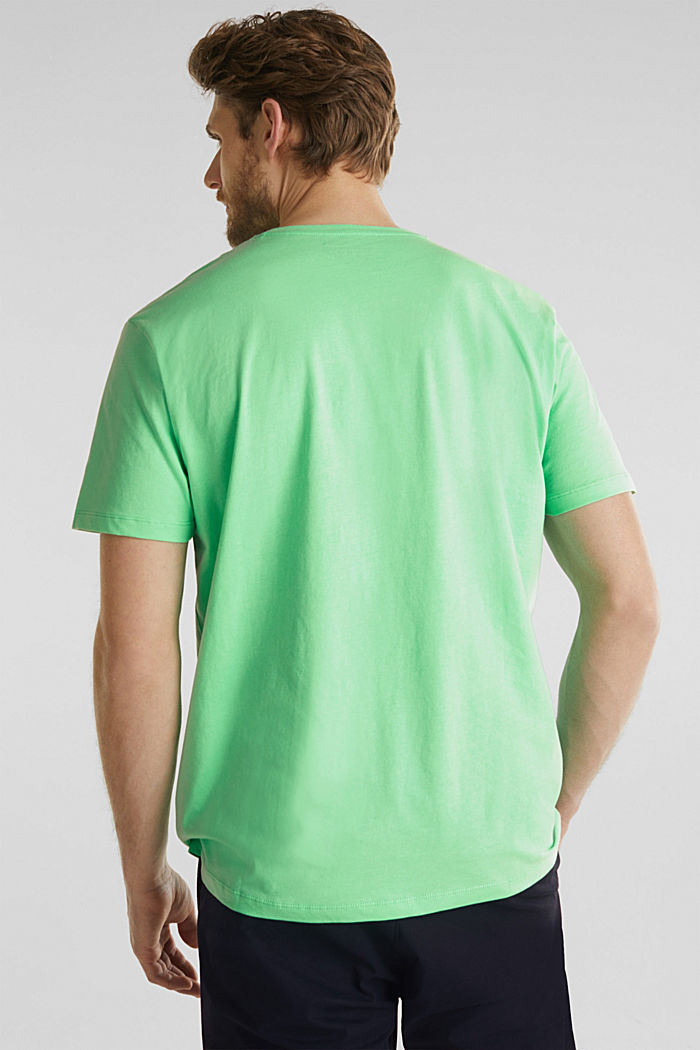 Jersey logo T-shirt, 100% cotton, LIGHT GREEN, detail image number 3