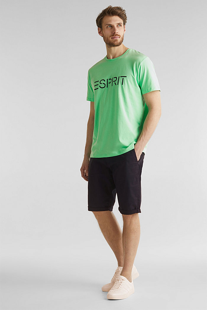 Jersey logo T-shirt, 100% cotton, LIGHT GREEN, detail image number 2
