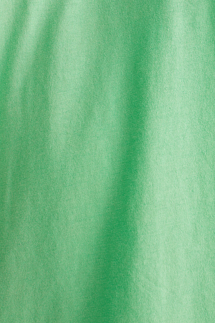 Jersey logo T-shirt, 100% cotton, LIGHT GREEN, detail image number 5