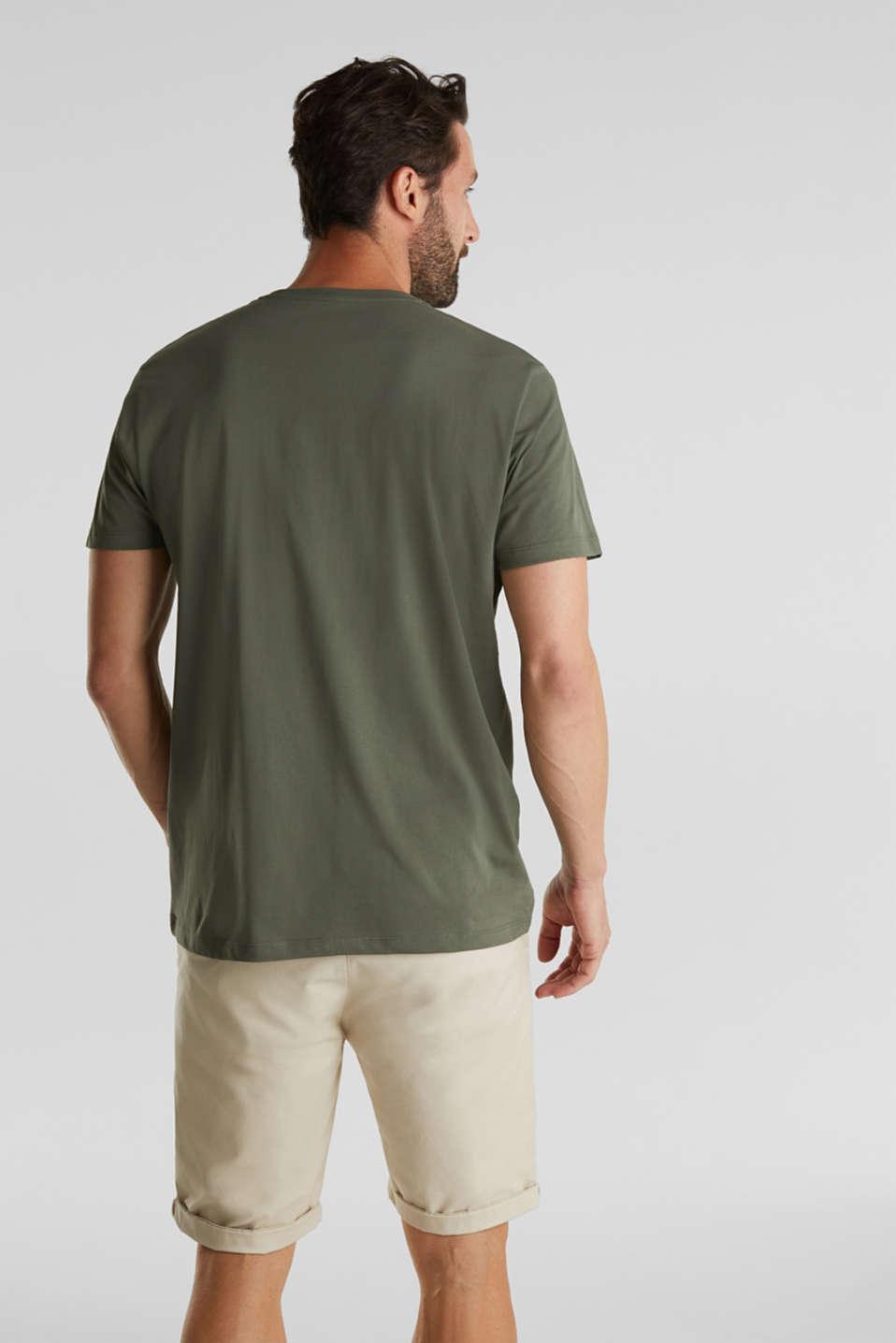 Jersey logo T-shirt, 100% cotton, KHAKI GREEN, detail image number 3