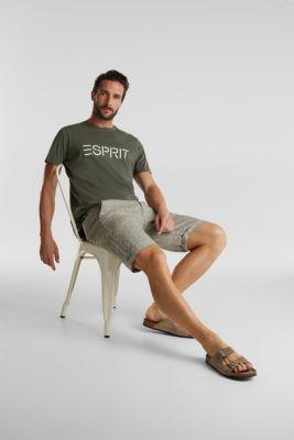 Jersey logo T-shirt, 100% cotton, KHAKI GREEN, detail