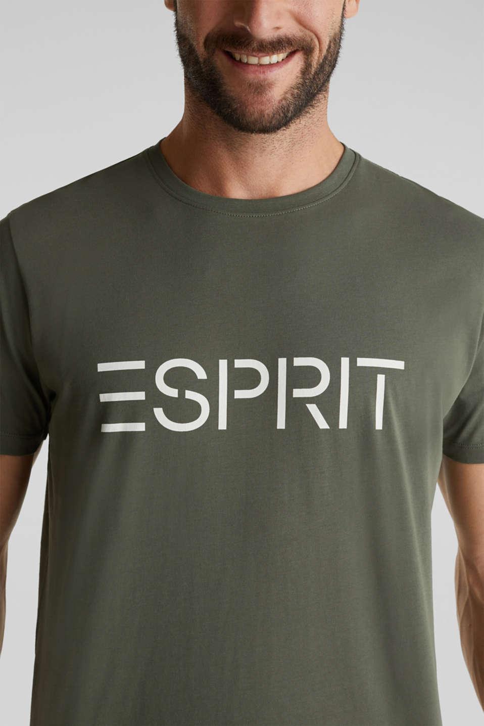 Jersey logo T-shirt, 100% cotton, KHAKI GREEN, detail image number 1