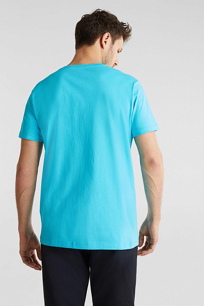 Jersey logo T-shirt, 100% cotton, AQUA GREEN, detail image number 3