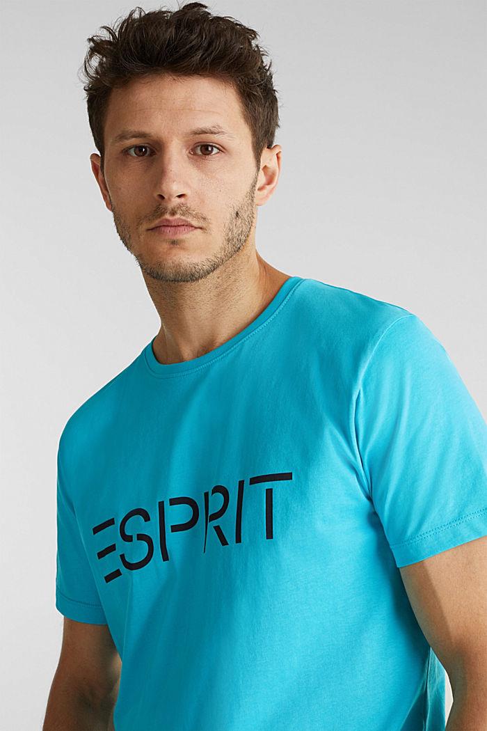 Jersey logo T-shirt, 100% cotton, AQUA GREEN, detail image number 5