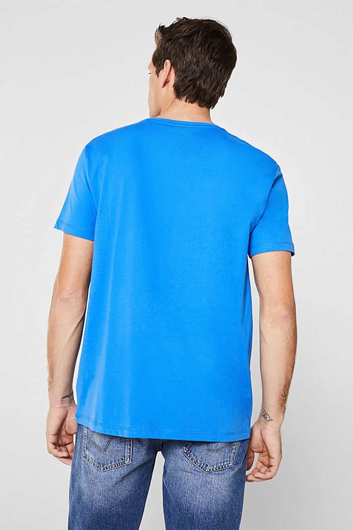 Jersey logo T-shirt, 100% cotton, BRIGHT BLUE, detail image number 3