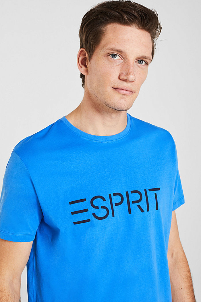 Jersey logo T-shirt, 100% cotton, BRIGHT BLUE, overview