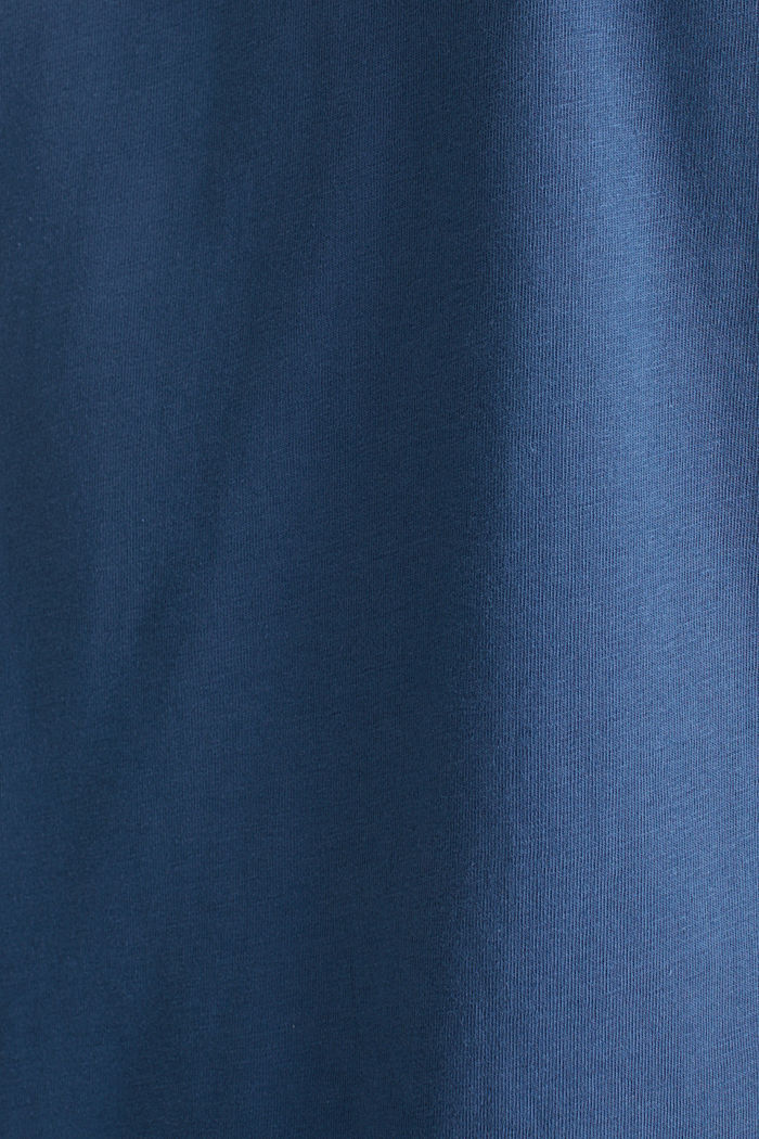 Jersey logo T-shirt, 100% cotton, GREY BLUE, detail image number 5
