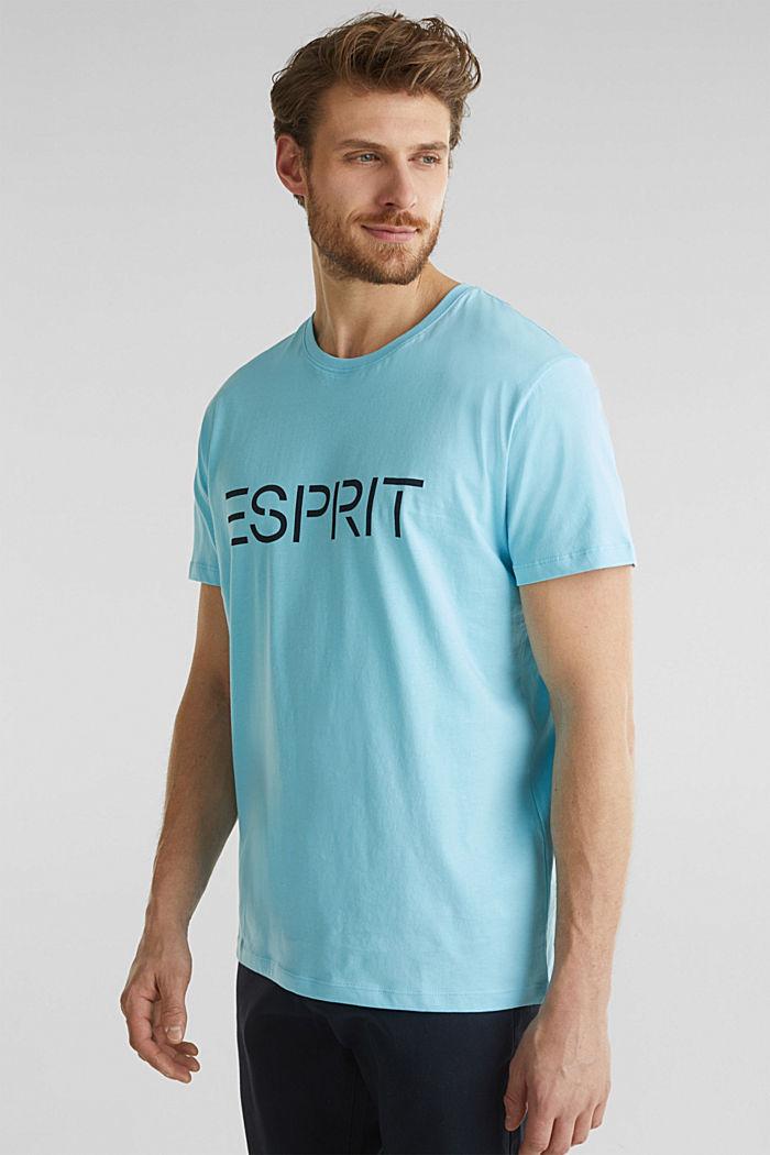 Jersey logo T-shirt, 100% cotton, LIGHT BLUE, detail image number 0