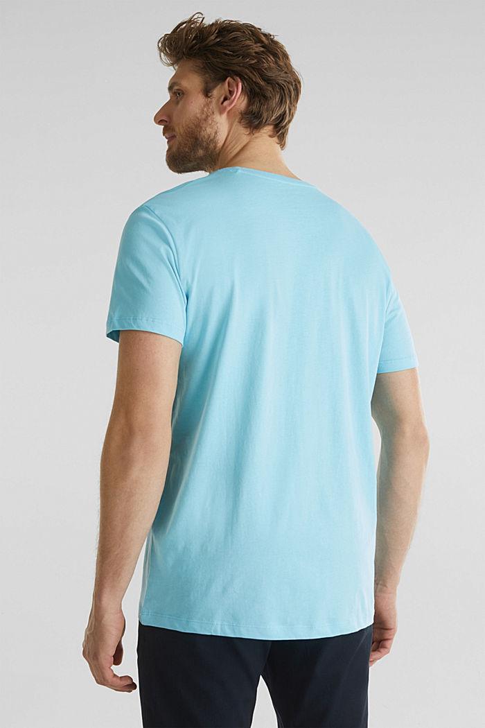 Jersey logo T-shirt, 100% cotton, LIGHT BLUE, detail image number 3