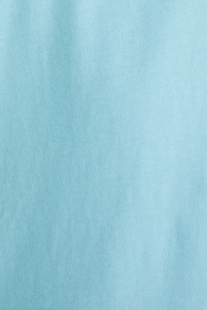 Jersey logo T-shirt, 100% cotton, LIGHT BLUE, detail image number 5