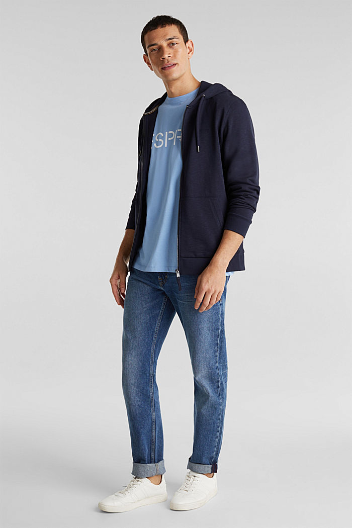 Jersey logo T-shirt, 100% cotton, LIGHT BLUE, detail image number 2