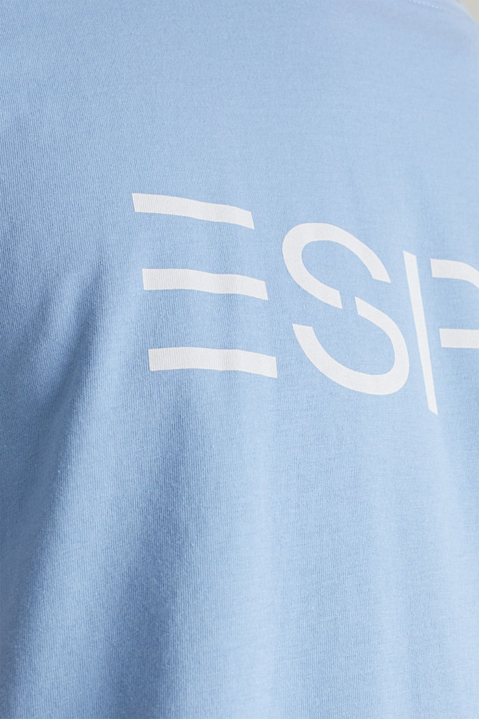 Jersey logo T-shirt, 100% cotton, LIGHT BLUE, detail image number 4