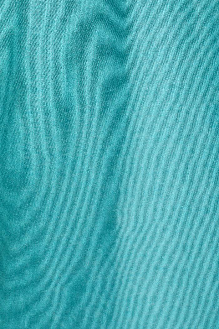 Jersey logo T-shirt, 100% cotton, TEAL BLUE, detail image number 4