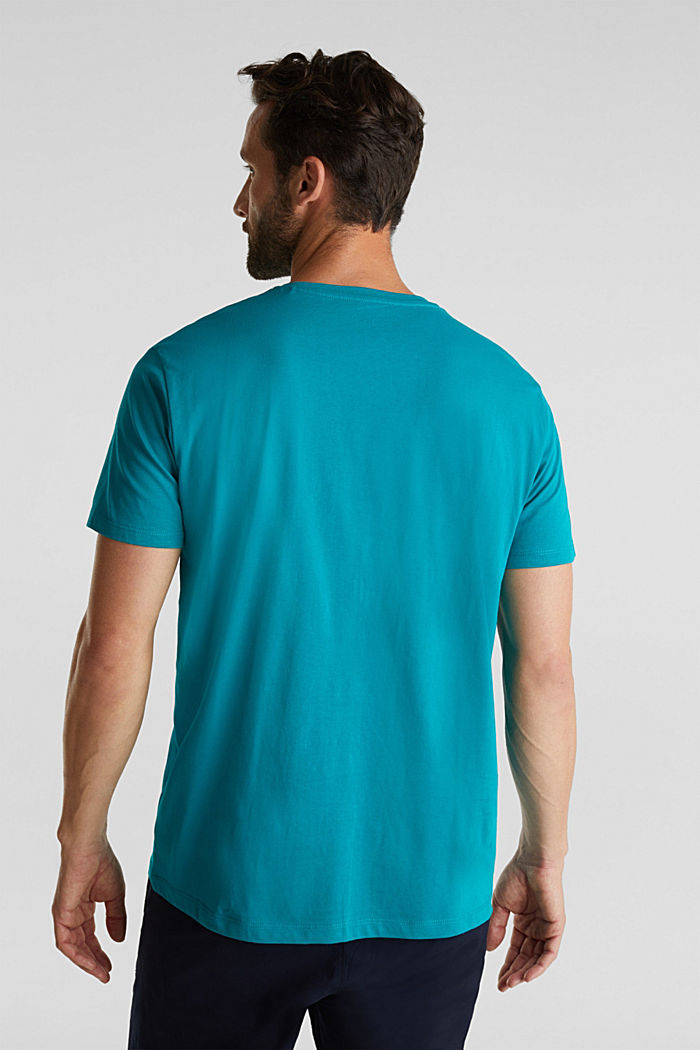 Jersey logo T-shirt, 100% cotton, DARK TURQUOISE, detail image number 3