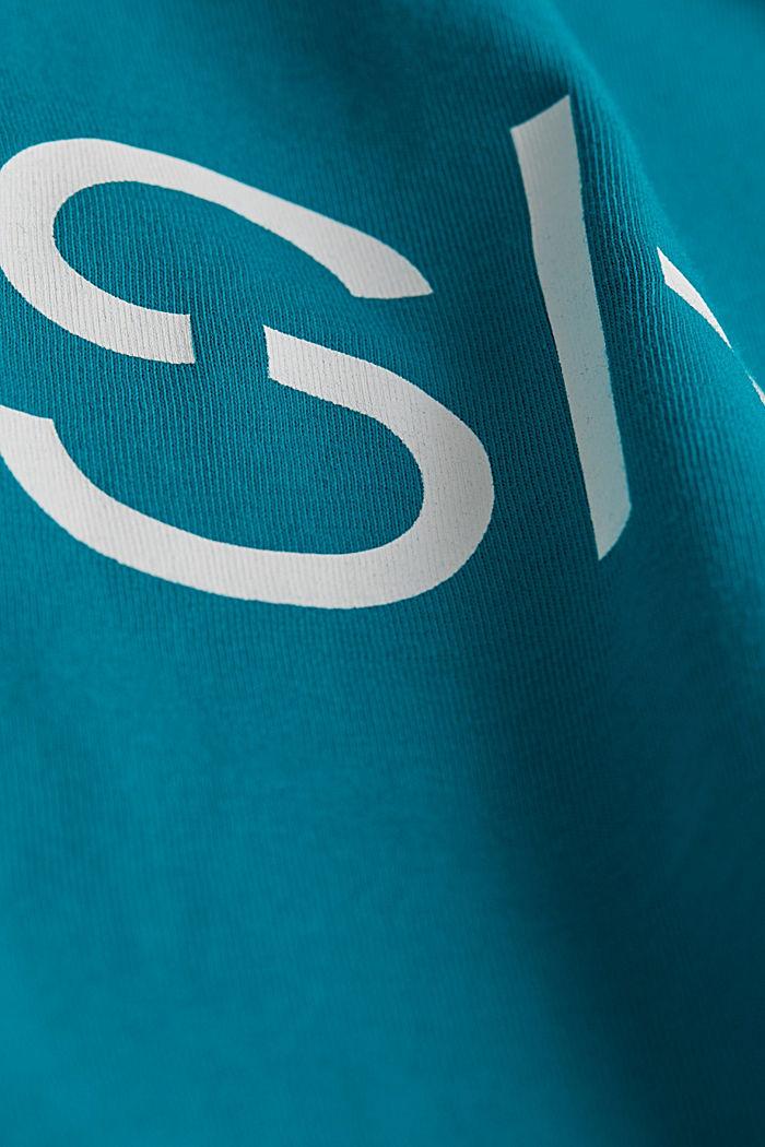Jersey logo T-shirt, 100% cotton, DARK TURQUOISE, detail image number 4