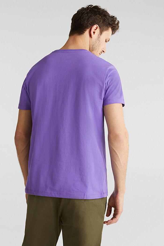 Jersey logo T-shirt, 100% cotton, VIOLET, detail image number 2