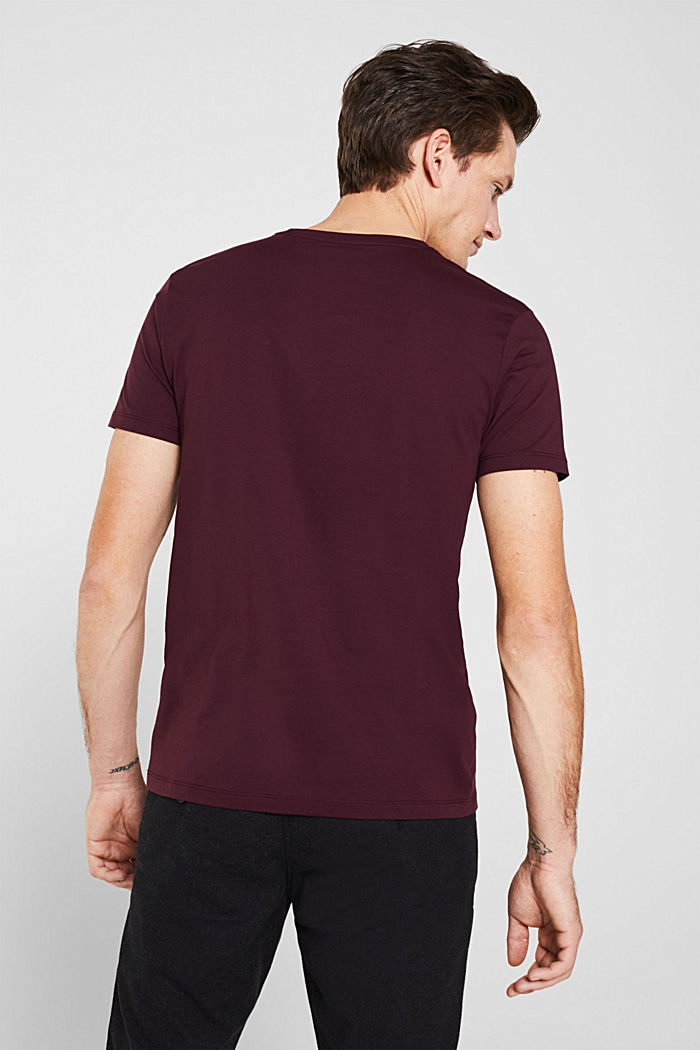 Jersey logo T-shirt, 100% cotton, BORDEAUX RED, detail image number 2