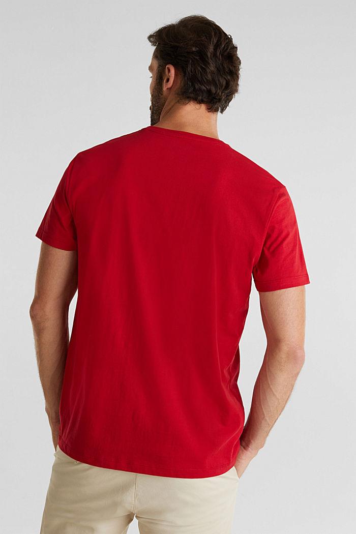 Jersey logo T-shirt, 100% cotton, GARNET RED, detail image number 3