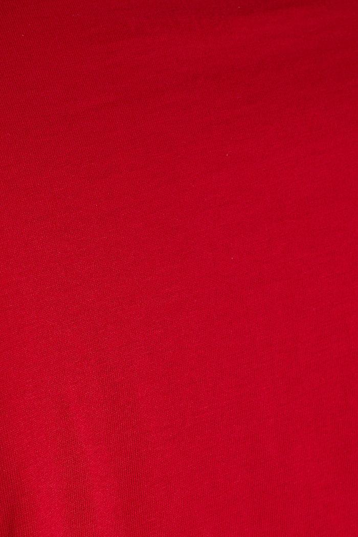 Jersey logo T-shirt, 100% cotton, GARNET RED, detail image number 4