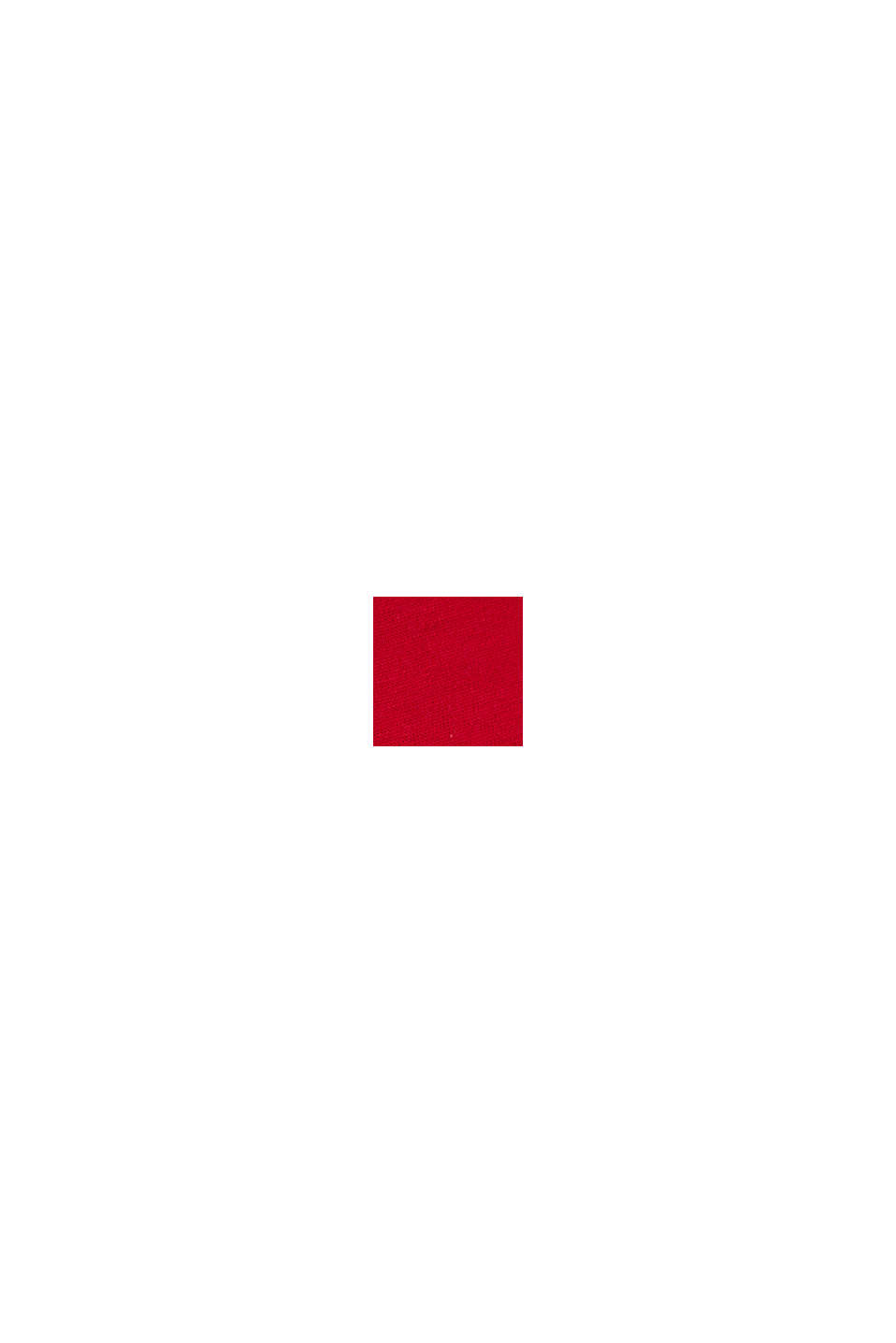 T shirt en jersey à logo, 100% coton, GARNET RED, swatch