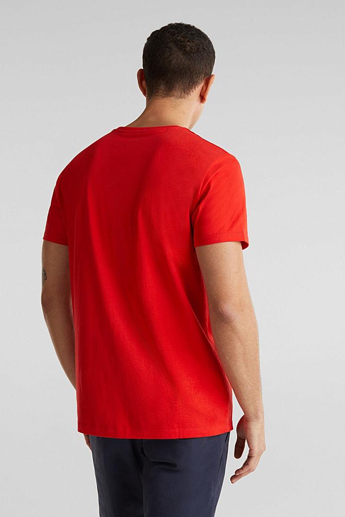 Jersey logo T-shirt, 100% cotton, RED, detail image number 3
