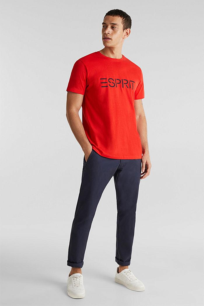Jersey logo T-shirt, 100% cotton, RED, detail image number 4